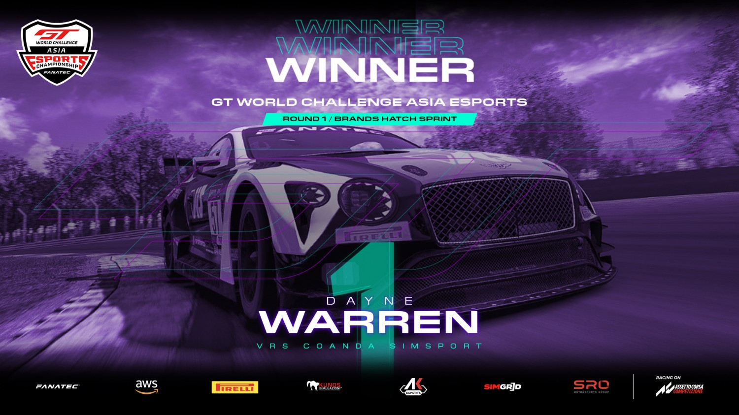 SRO E-sports - ESPORTS: Warren wipes the floor with rivals in Sprint Series season opener at Brands